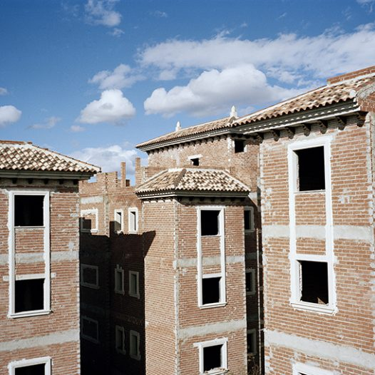 An unfinished real estate development is left abandoned in Fortuna, Murcia.