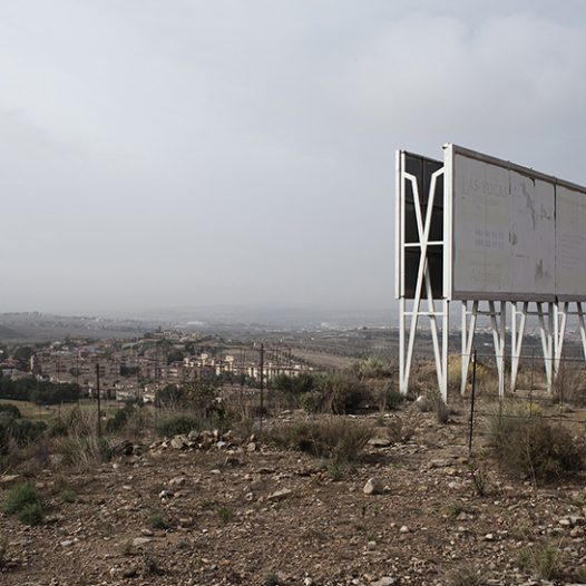 Molina de Segura, Spain. Unfinished and abandoned properties dot the residential suburbs of Murcia.