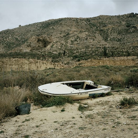 An abandoned boat on the suburbs of Murcia