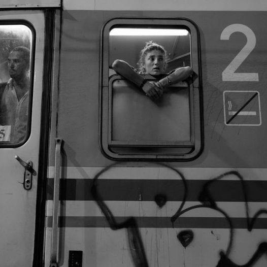 Refugees on board a train in Tovarnik, Croatia, Sept. 18, 2015.