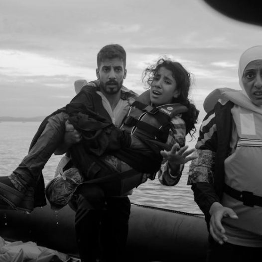 Refugees from Syria, Afghanistan, Pakistan, Somalia cross the sea between Turkey and Greece by means of inflatable pontoon rafts to the island of Lesbos as the first step in making their way across Europe. by James Nachtwey