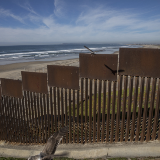 View of the U.S.-Mexico border from Playas de Tijuana, Mexico