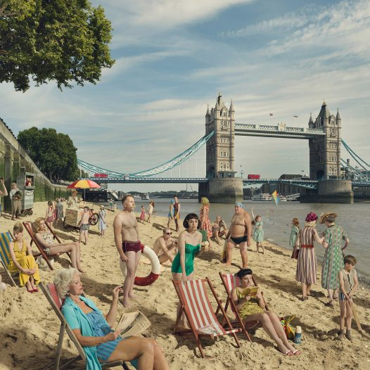 Bathing by Tower Bridge, 2018