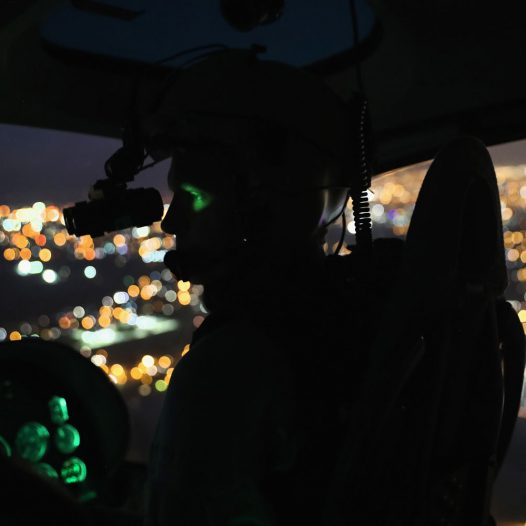 LA GRULLA, TX - MARCH 15:  A U.S. Customs and Border Protection (CBP), helicopter pilot searches for undocumented immigrants while flying a night patrol with night-vision goggles over the U.S.-Mexico border on March 15, 2017 near La Grulla, Texas. CBP announced that illegal crossings along the southwest border with Mexico dropped 40 percent during the month of February.  (Photo by John Moore/Getty Images)