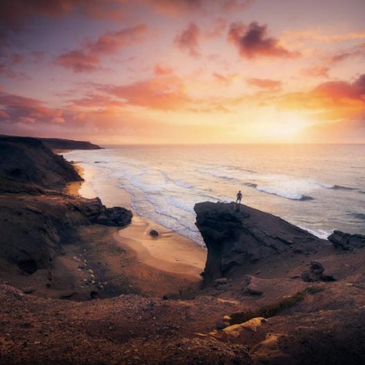Atardecer en la Playa de La Pared. Fuerteventura.