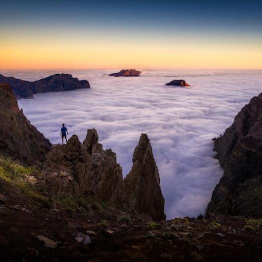 """""""Parado frente al mar"""".Caldera de Taburiente. La Palma."""